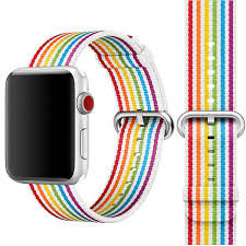 Bracelete Nylon Rainbow Stripe