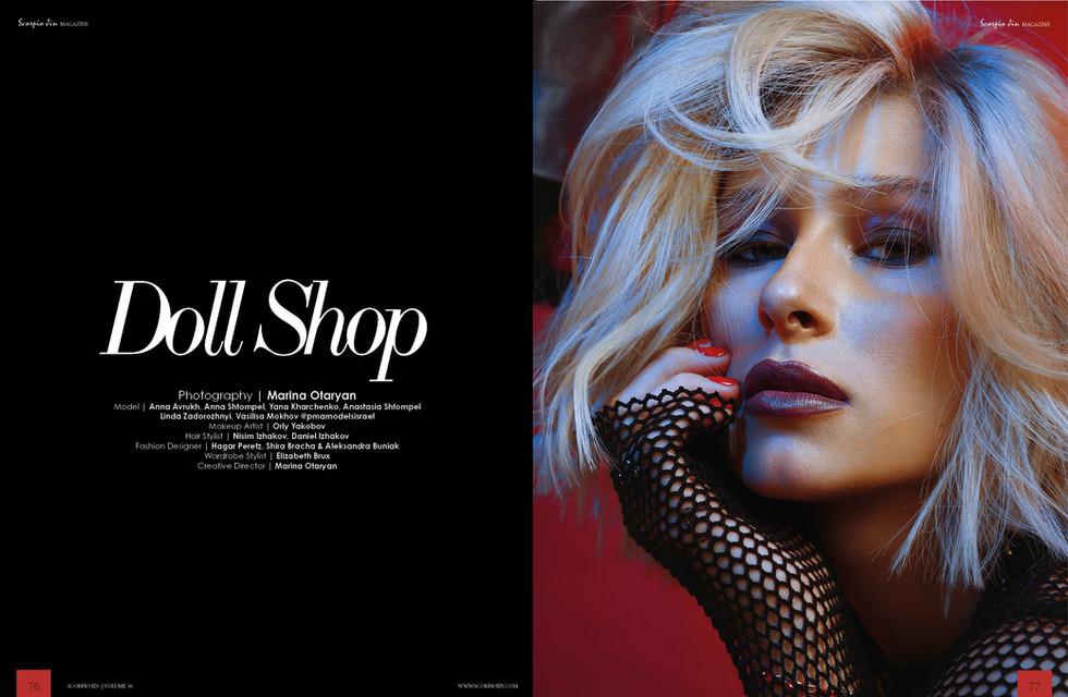 """""""Doll Shop"""" for Scorpio Jin Magazine"""
