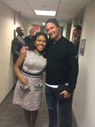Gabrielle with actor/model, Josh Holloway
