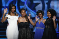 Gabrielle with Michelle Obama at Black Girls Rock