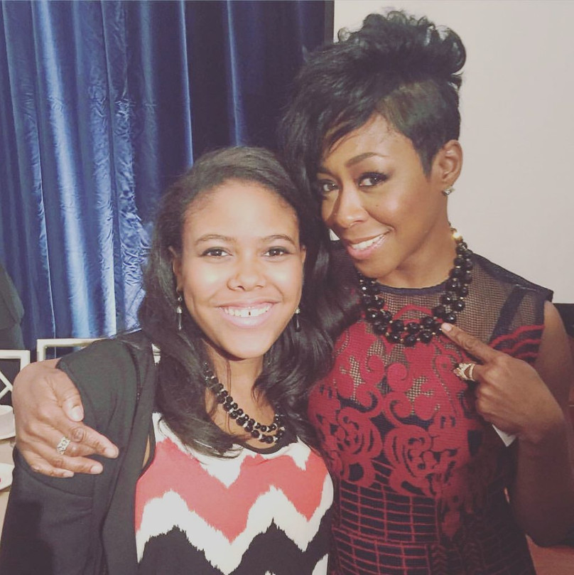Gabrielle with actress, Tichina Arnold