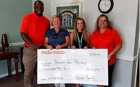 Advoco Announces $10,000 Gift to Area Charities