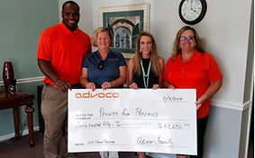 Advoco Announces $10,000 Gift to Area Charities