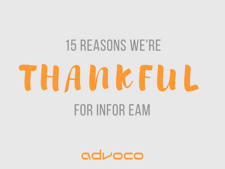 15 Reasons We're Thankful for Infor EAM