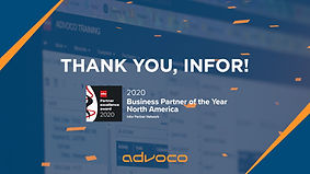 Advoco Gains Global Recognition, Selected as Infor Business Partner of the Year
