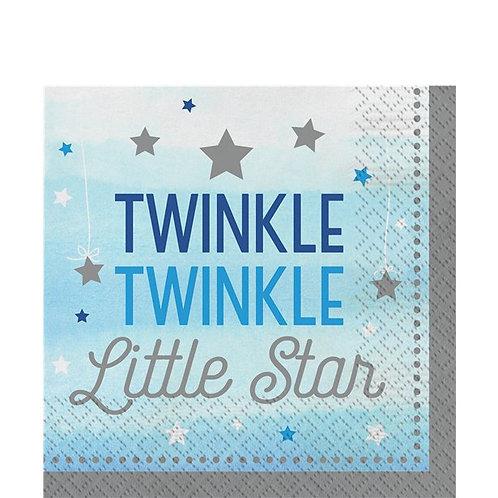Twinkle Little Star Blue Napkins