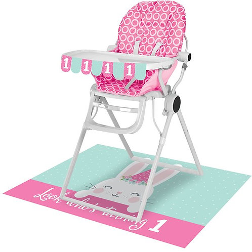 1st Birthday High Chair Decorating Kit Pink