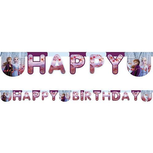 Disney Frozen 2 Happy Birthday Banner