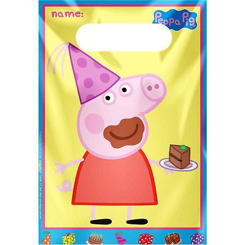 Peppa Pig Party Bags. Set Of 8