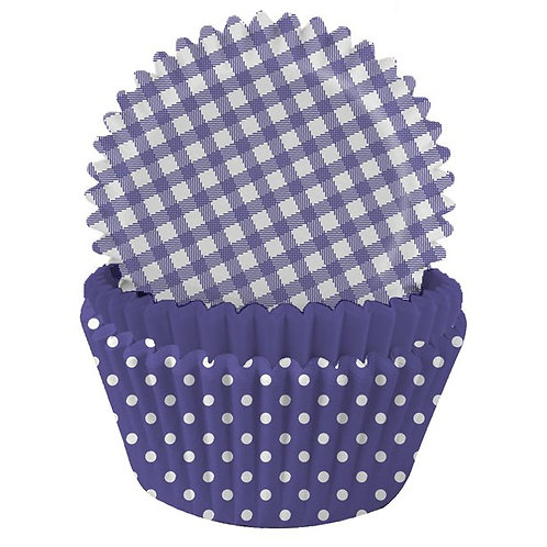 Purple Polka Dot Cupcake Cases