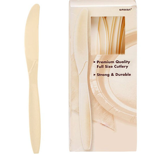 Ivory Plastic Knives