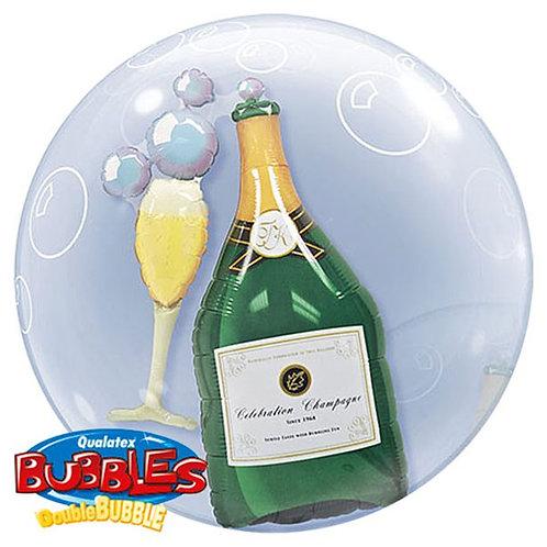 Champagne Double Bubble Balloon