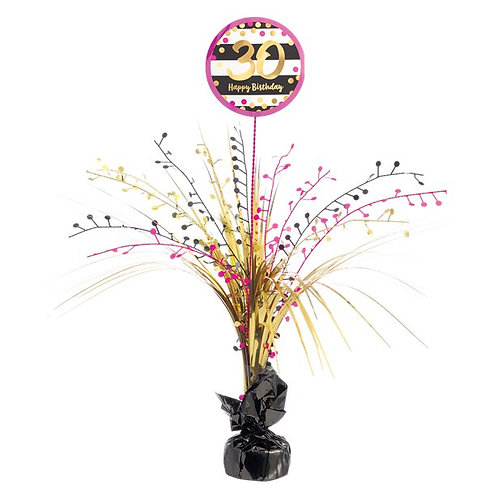 30th Birthday Party Foil Pink & Gold Table Centrepiece Decoration