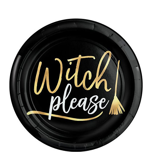 Witch Please Paper Plates