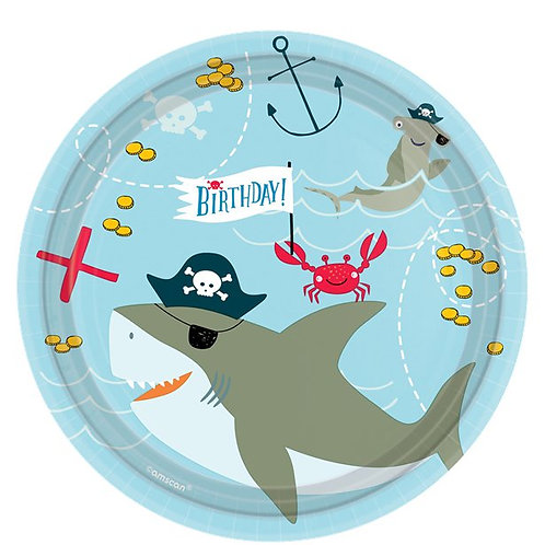 Pirate Ahoy Birthday Party Plates