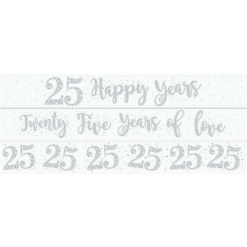 25th Wedding Anniversary Banners