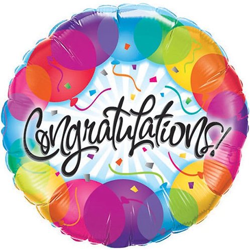 "Congratulations Foil Balloon. Size 18"""
