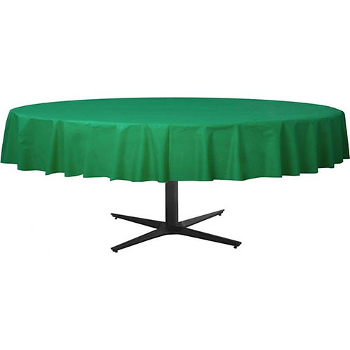 Green Round Plastic Tablecover