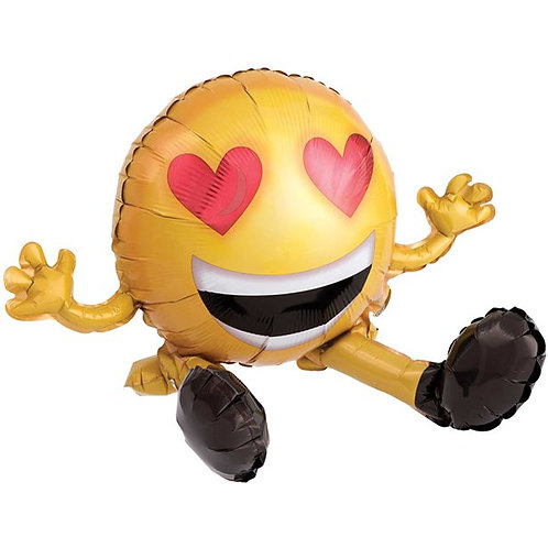 Emoticon Heart Sitting Foil Balloon