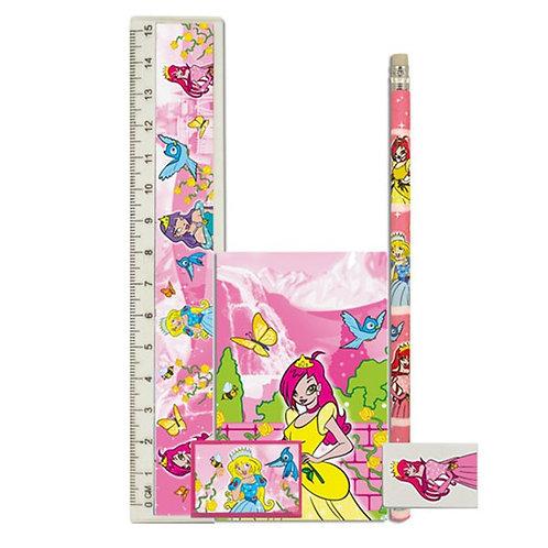 5 Piece Stationery Sets Princess