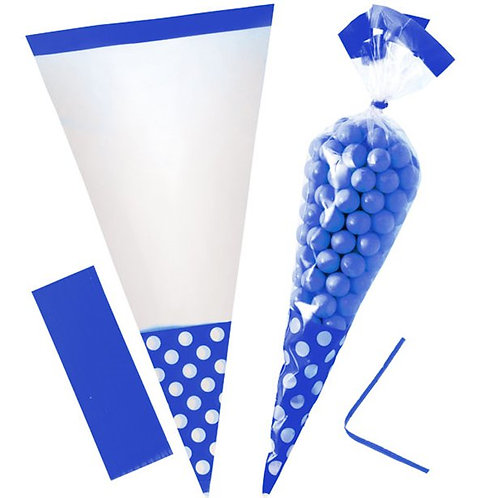 Candy Buffet Cello Sweet Cone Bags Royal Blue