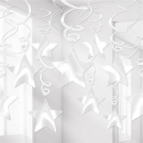 White Stars Hanging Decorations