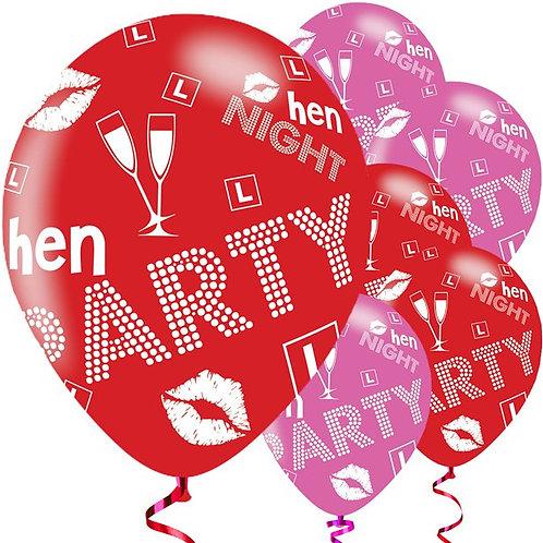 Hen Party Mixed Balloons