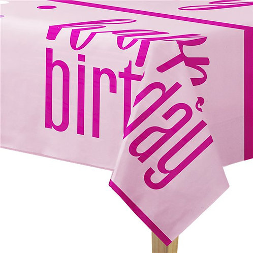 Happy Birthday Glitz Plastic Tablecover