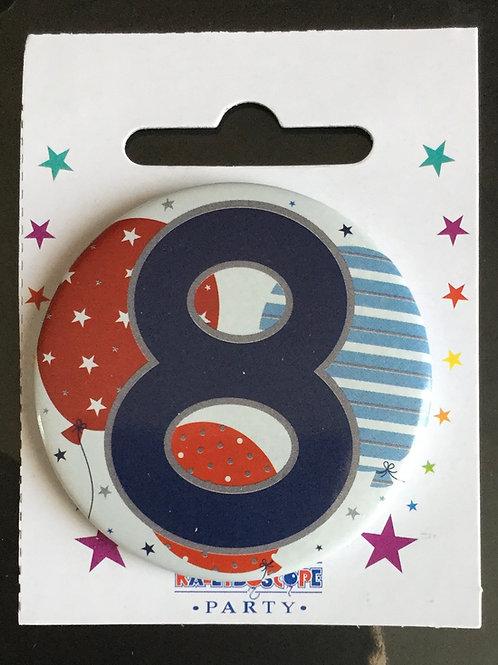 8th Blue Birthday Badge