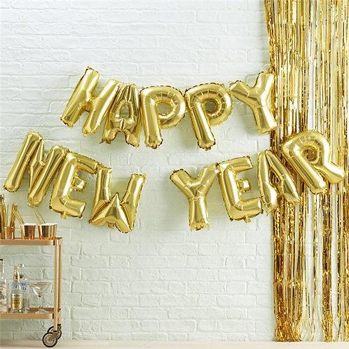 New Year Balloon Bunting