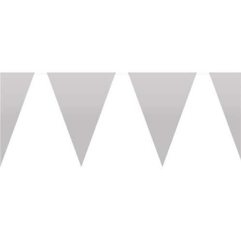 Silver Plastic Party Bunting