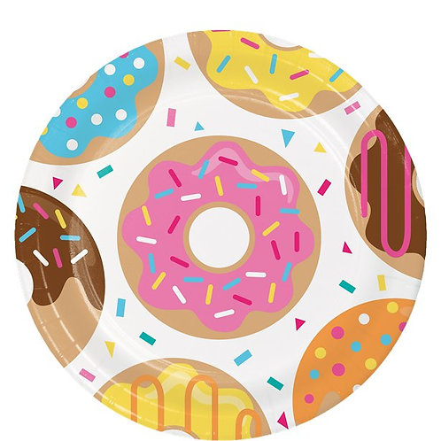 Doughnut Party Paper Plates
