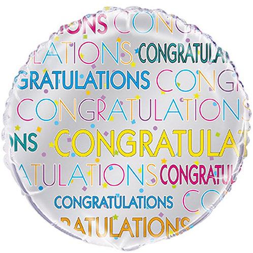 Congratulations Bright Star Foil Balloon