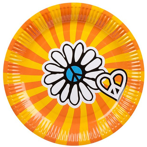 1960's Cups, Napkins, Plates & Table Runner