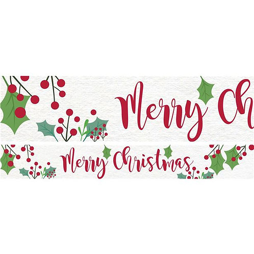 Holly Christmas Paper Banners