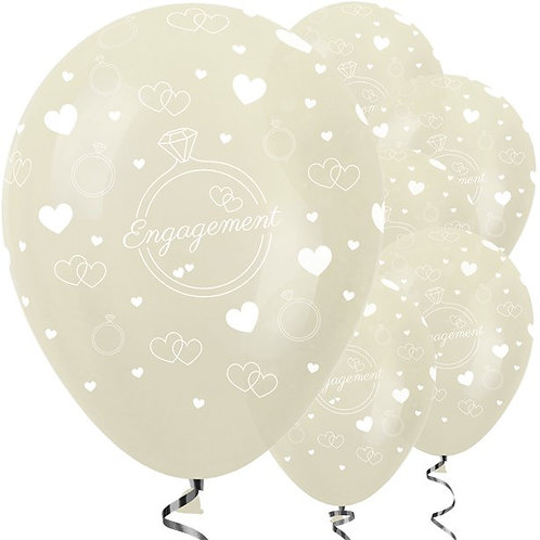 Engagement Party Balloons Ivory