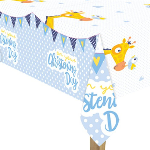 Christening Day Blue Tablecover