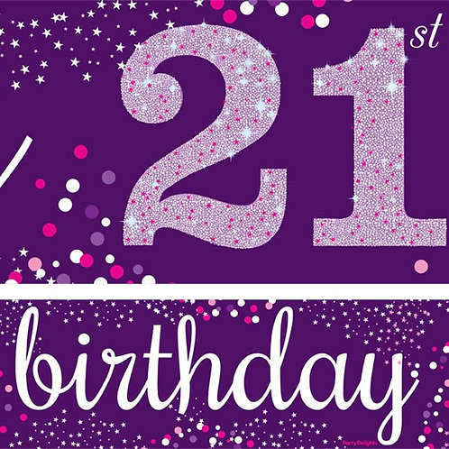 21st Birthday Banner Pack Of 3