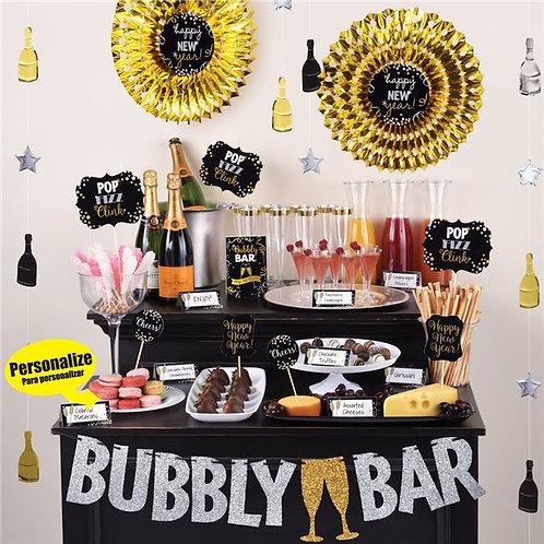 Champagne Bubbly Bar Decorating Kit