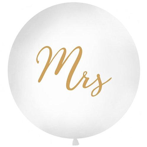 Gold Mrs Giant Latex Balloon