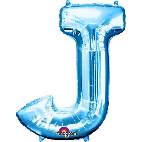 "Giant Foil Helium Letter J Balloons Size 34"" Blue"