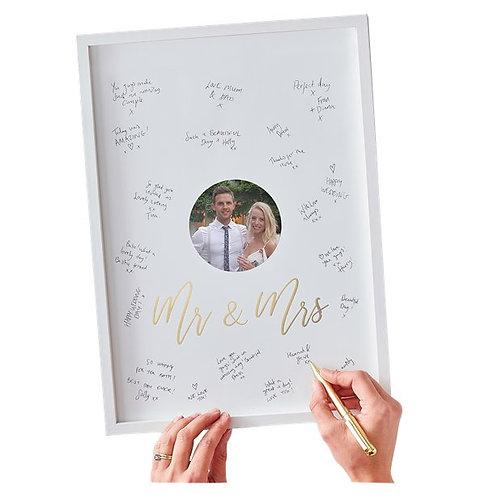 Gold Wedding Guest Book Frame
