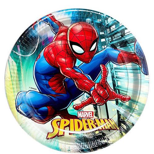 Children's Party Spiderman Paper Plates