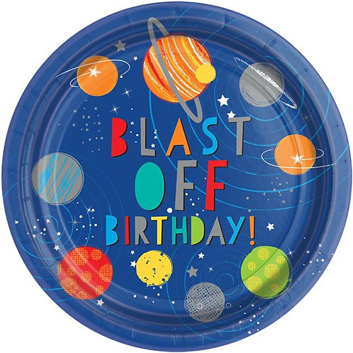Outer Space Birthday Party Plates
