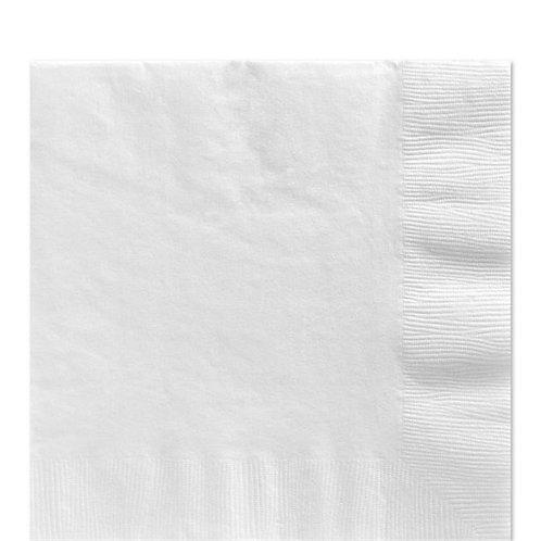 White Party Napkins Size 33cm