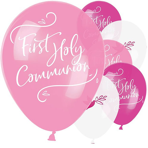 First Holy Communion Pink Mix Balloons