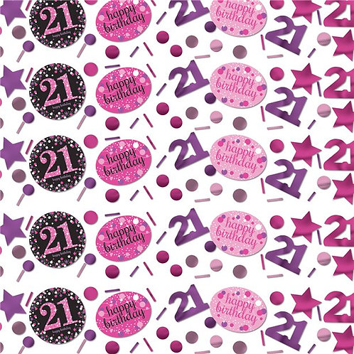 21st Pink Celebration Table Confetti