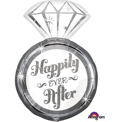 Happily Ever After Ring Foil Balloon