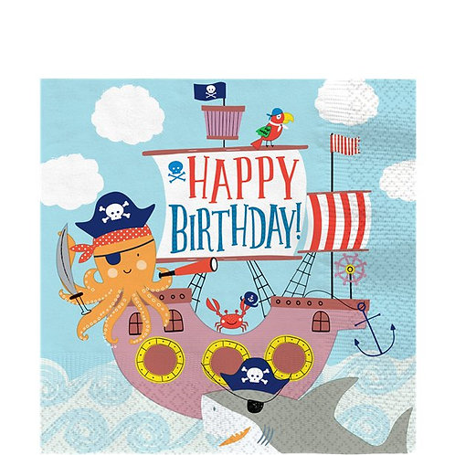 Pirate Ahoy Birthday Party Napkins Pack Of 16