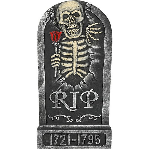 Skeleton and Rose Tombstone